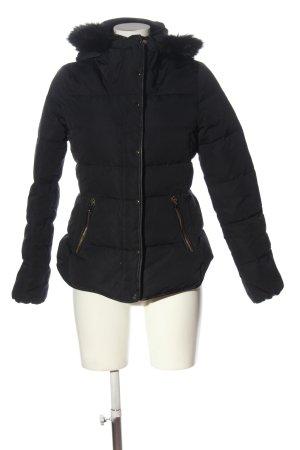 Zara Kurtka zimowa czarny Pikowany wzór W stylu casual