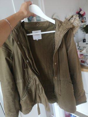 Zara winterjacke khaki 34