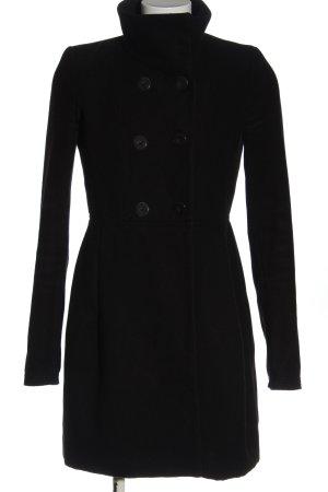 Zara Płaszcz zimowy czarny W stylu casual