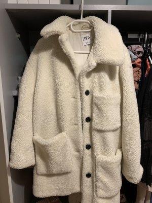 Zara Chaqueta de invierno blanco-crema