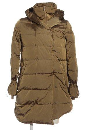 Zara Winter Coat bronze-colored quilting pattern casual look