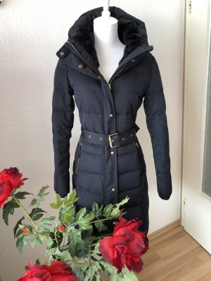 Zara Down Coat dark blue-black
