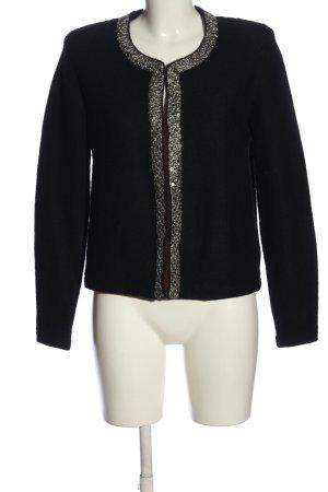 Zara Woll-Blazer schwarz-silberfarben Casual-Look
