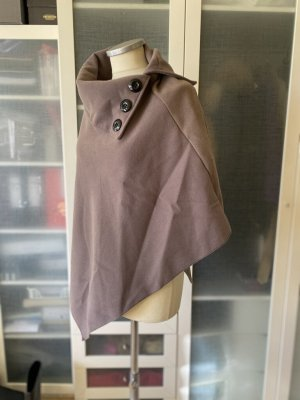 Zara Woll Poncho taupe top