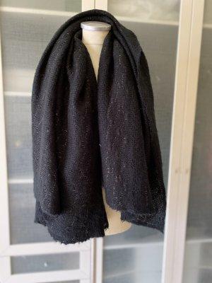 Zara Accesoires Bufanda de lana negro-color oro
