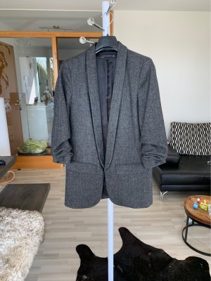 Zara Woman Wool Blazer dark grey
