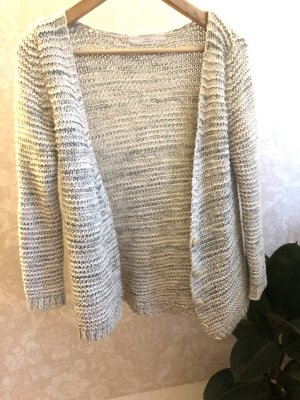 Zara Wolle Cardigan Strickjacke Knöpfe Strick Knit S nude beige grün weiß