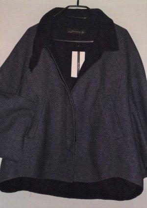 "Zara Wolle Jacke ""handmade"" blau Boho Lagenlook Gr.XL neu"