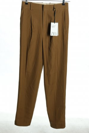 Zara Woolen Trousers brown casual look