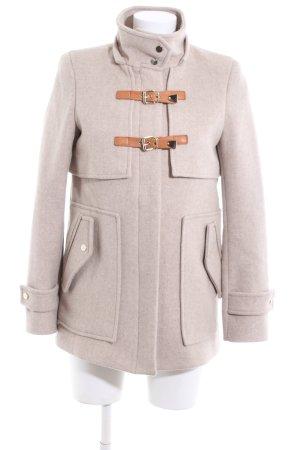 Zara Chaqueta de lana blanco puro moteado look casual