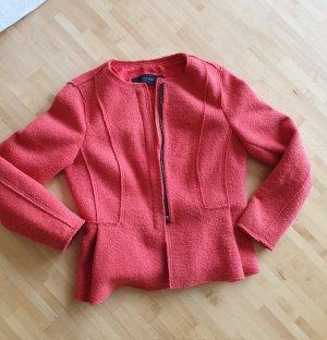 Zara Giacca di lana rosso chiaro