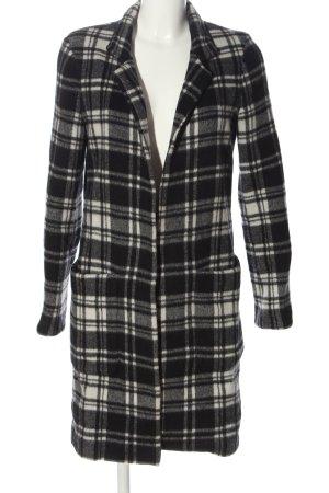 Zara Marynarski płaszcz Wzór w kratkę W stylu casual