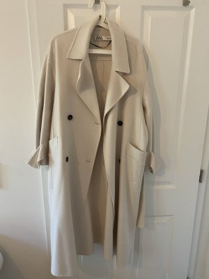Zara Manteau oversized crème-blanc cassé