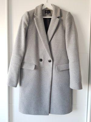 Zara Abrigo de lana gris claro