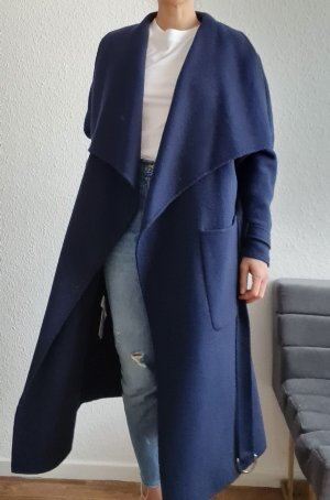 Zara Wool Coat dark blue-blue alpaca wool