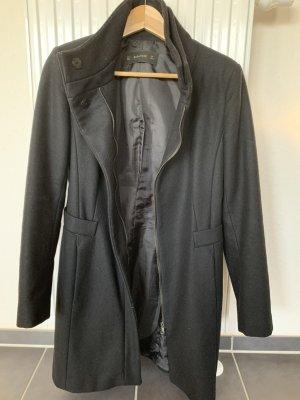 Zara Basic Cappotto in lana nero