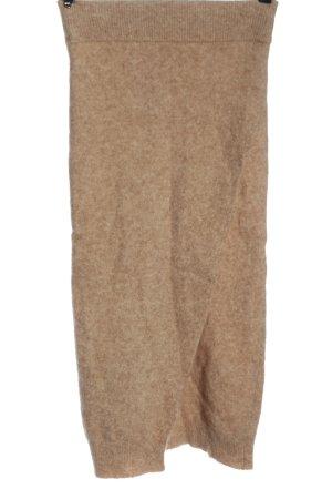 Zara Gonna di lana color carne puntinato stile casual