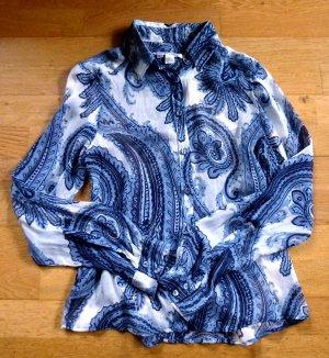 Zara Woman Blouse en soie multicolore soie
