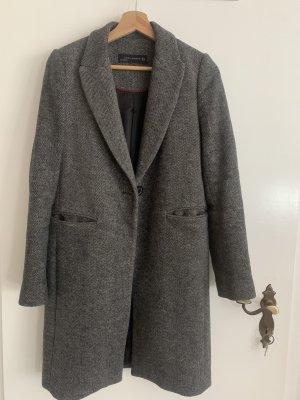Zara Woman Marynarski płaszcz ciemnoszary