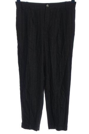 Zara Woman 7/8-Hose schwarz-weiß Streifenmuster Casual-Look