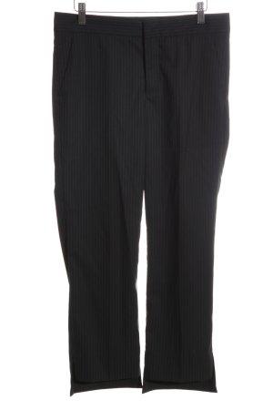 Zara Woman 7/8-Hose schwarz Streifenmuster Business-Look