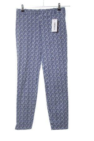Zara Woman 7/8-Hose blau-weiß Allover-Druck Casual-Look