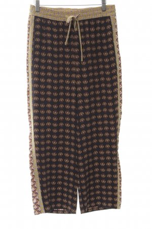 Zara Woman 7/8-Hose abstraktes Muster Casual-Look