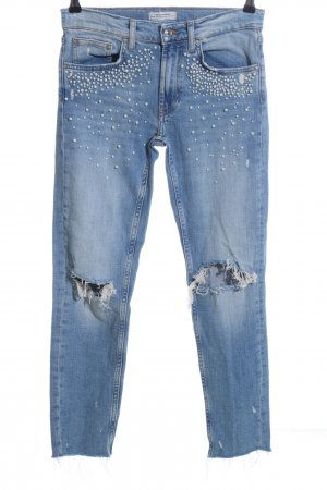Zara Woman 7/8 Jeans blau Elegant
