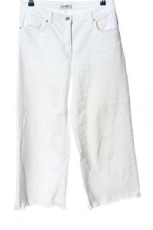 Zara Woman 7/8 Jeans weiß Casual-Look
