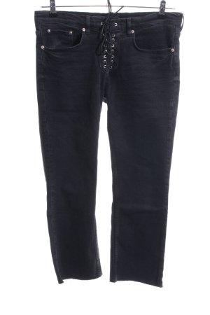 Zara Woman 7/8 Jeans schwarz Casual-Look