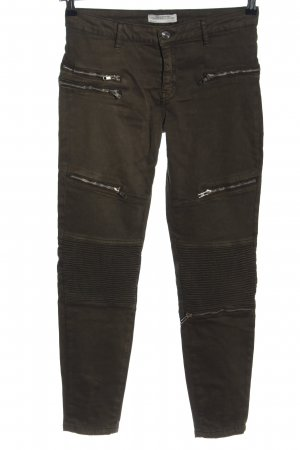 Zara Woman Jeansy 7/8 brązowy W stylu casual