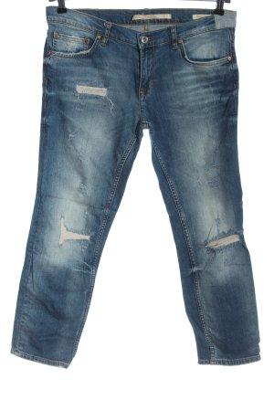 Zara Woman Jeansy 7/8 niebieski Wygląd w stylu miejskim