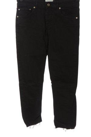 Zara Woman Jeansy 7/8 czarny W stylu casual