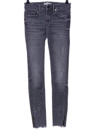Zara Woman 7/8 Jeans hellgrau Casual-Look