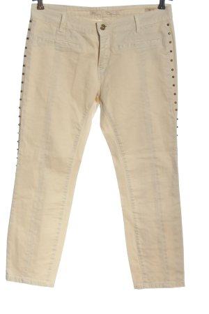 Zara Woman Jeansy 7/8 w kolorze białej wełny W stylu casual