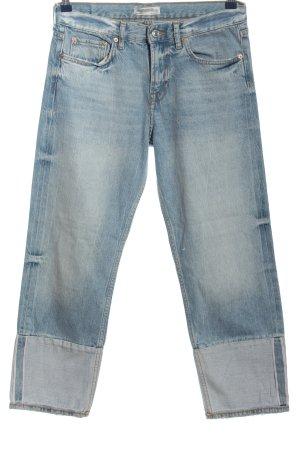 Zara Woman Jeansy 7/8 niebieski W stylu casual