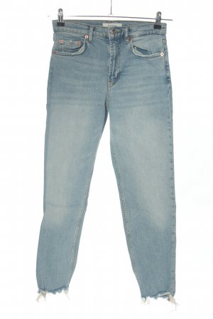 Zara Woman 7/8 Jeans blau Casual-Look