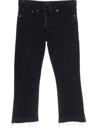 Zara Woman Jeansy 7/8 niebieski Elegancki