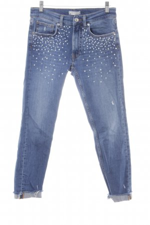 Zara Woman 7/8 Jeans blau Jeans-Optik