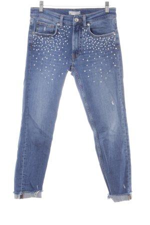 Zara Woman 7/8 Jeans blau Jeans-Optik