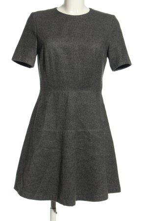 Zara Woman A-Linien Kleid hellgrau meliert Casual-Look