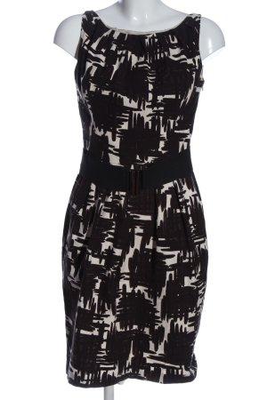 Zara Woman Etuikleid schwarz-weiß abstraktes Muster Casual-Look