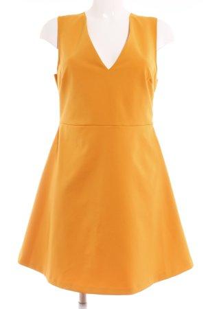 Zara Woman A-Linien Kleid hellorange Elegant