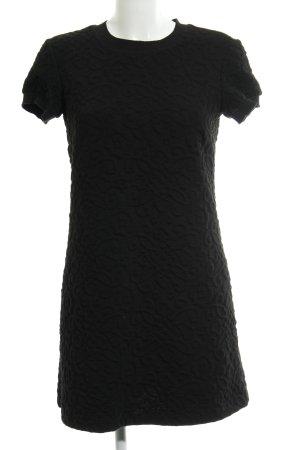 Zara Woman A-Linien Kleid schwarz abstraktes Muster Casual-Look