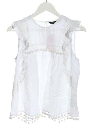 Zara Woman Top o kroju litery A biały W stylu biznesowym
