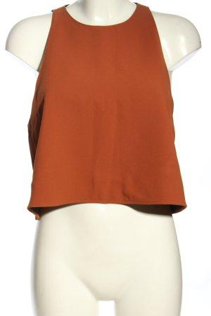 Zara Woman A-Linien Top braun Casual-Look