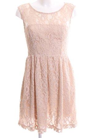 Zara Woman Abendkleid nude Casual-Look