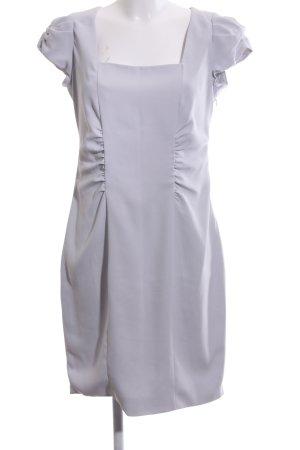 Zara Woman Abendkleid hellgrau Business-Look