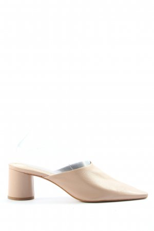 Zara Woman Heel Pantolettes natural white casual look