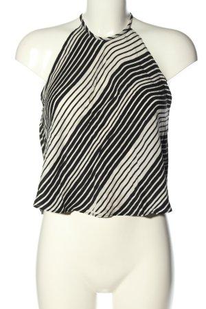 Zara Woman ärmellose Bluse weiß-schwarz Allover-Druck Casual-Look